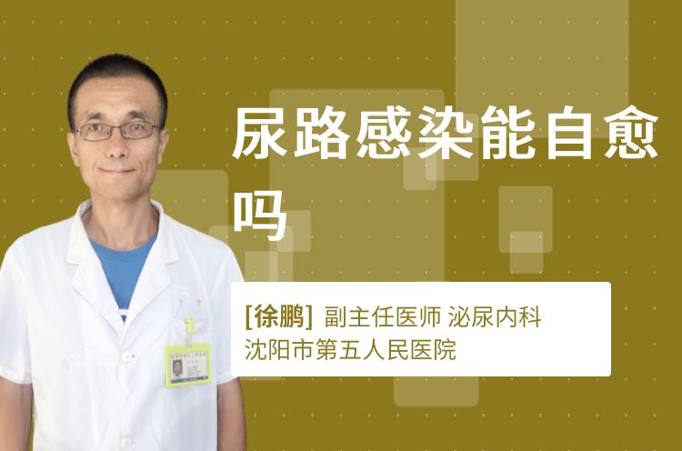 尿路感染能自愈吗